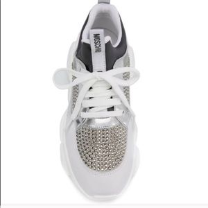 New Authentic Moschino Crystal Sneakers